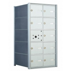 10 A-size Door Horizontal Mailbox Unit - Front Loading - 140052A