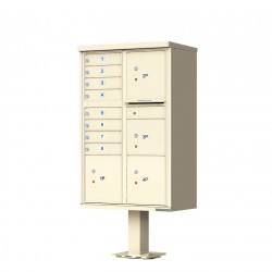 8 Tenant Door Standard Style CBU Mailbox (Pedestal Included) - Type 6 - 1570-8T6AF