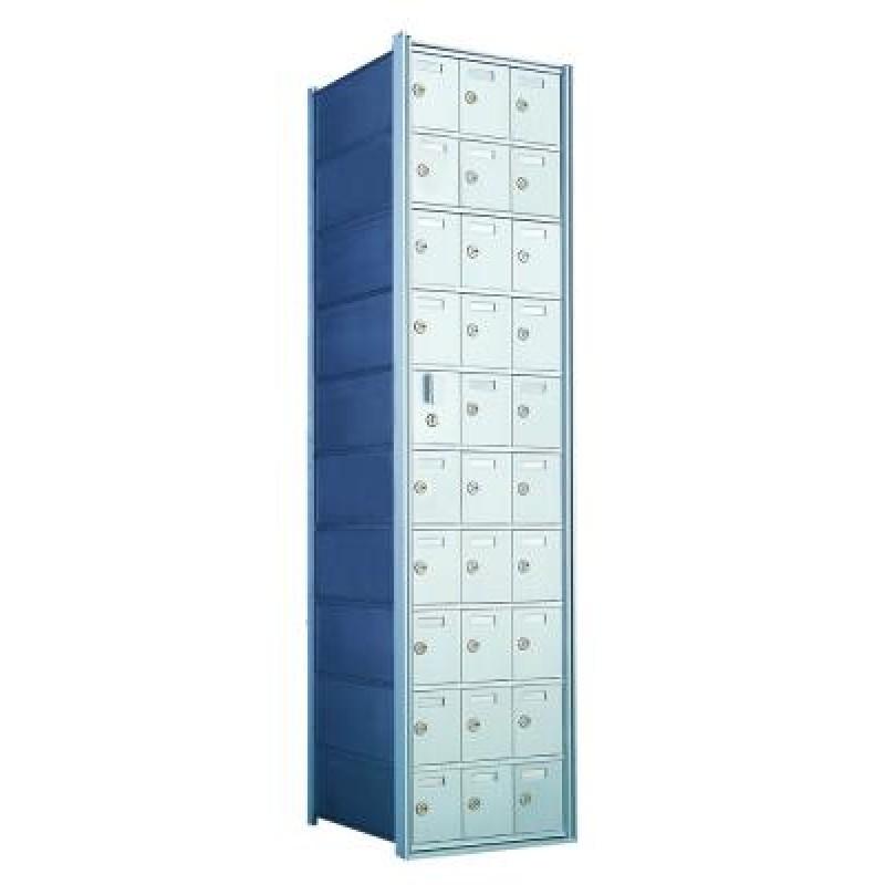 Standard 30 Door Horizontal Mailbox Unit Front Loading