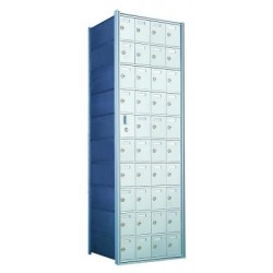 Custom 40 Door Horizontal Mailbox Unit - Front Loading - (39 Useable; 10 High) 1600104-SP