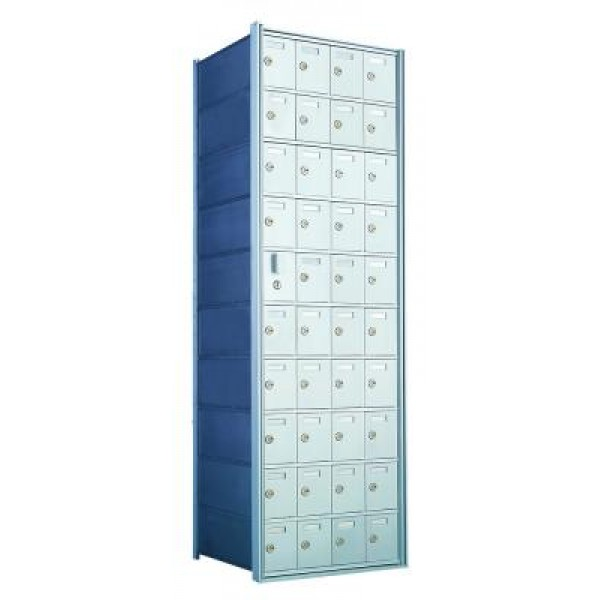 Standard 40 Door Horizontal Mailbox Unit - Front Loading - (39 Useable; 10 High) 1600104A