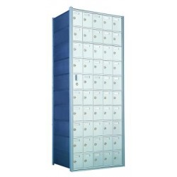 Custom 50 Door Horizontal Mailbox Unit - Front Loading - (49 Useable; 10 High) 1600105-SP