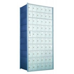 Custom 60 Door Horizontal Mailbox Unit - Front Loading - (59 Useable; 10 High) 1600106-SP