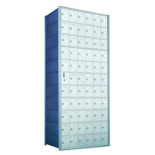 Custom 66 Door Horizontal Mailbox Unit - Front Loading - (65 Useable; 11 High) 1600116-SP