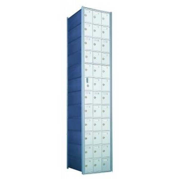 Standard 36 Door Horizontal Mailbox Unit - Front Loading - (35 Useable; 12 High) - 1600123A
