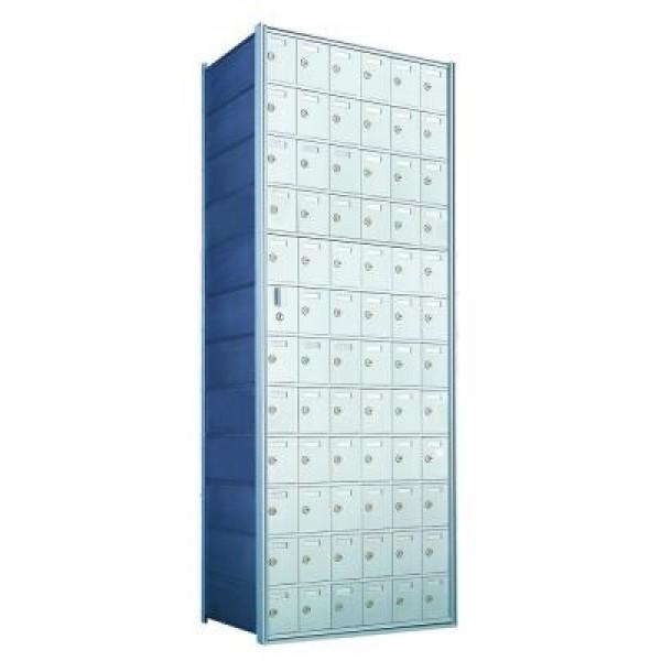 Custom 72 Door Horizontal Mailbox Unit - Front Loading - (71 Useable; 12 High) 1600126-SP