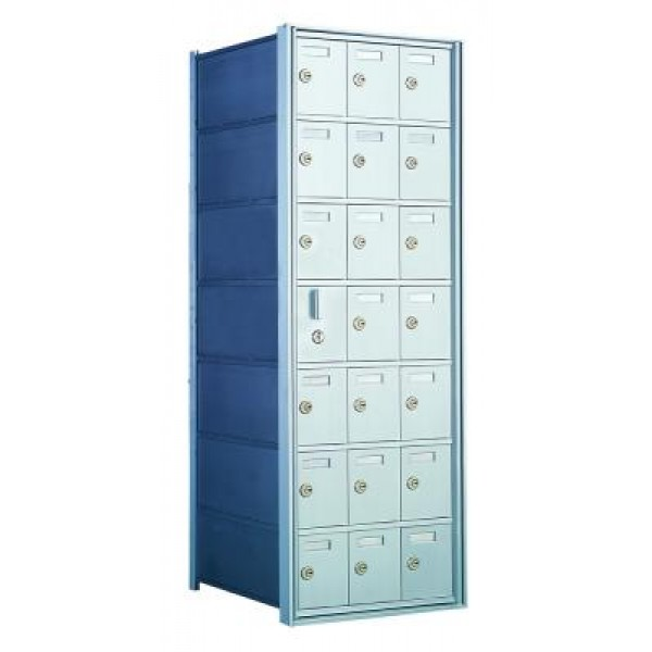 Standard 21 Door Horizontal Mailbox Unit - Front Loading - (20 Useable; 7 High) - 160073A