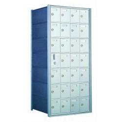 Standard 28 Door Horizontal Mailbox Unit - Front Loading - (27 Useable; 7 High) 160074A