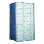 Standard 35 Door Horizontal Mailbox Unit - Front Loading - (34 Useable; 7 High) 160075A