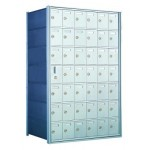 Standard 42 Door Horizontal Mailbox Unit - Front Loading - (41 Useable; 7 High) 160076A