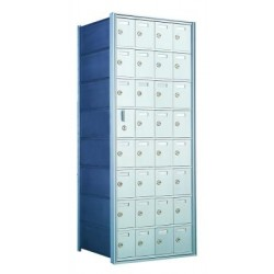 Standard 32 Door Horizontal Mailbox Unit - Front Loading - (31 Useable; 8 High) 160084A