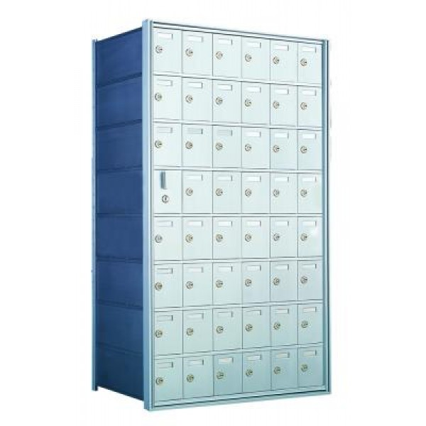Standard 48 Door Horizontal Mailbox Unit - Front Loading - (47 Useable; 8 High) 160086A