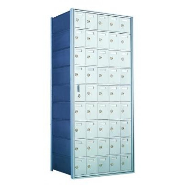 Standard 45 Door Horizontal Mailbox Unit - Front Loading - (44 Useable; 9 High) 160095A