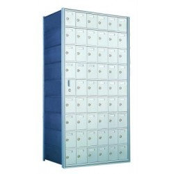Custom 54 Door Horizontal Mailbox Unit - Front Loading - (53 Useable; 9 High) 160096-SP
