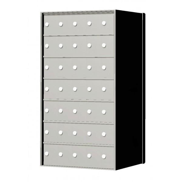 Standard 35 Door 7 High Horizontal Mailbox Unit - Rear Loading - 170075A