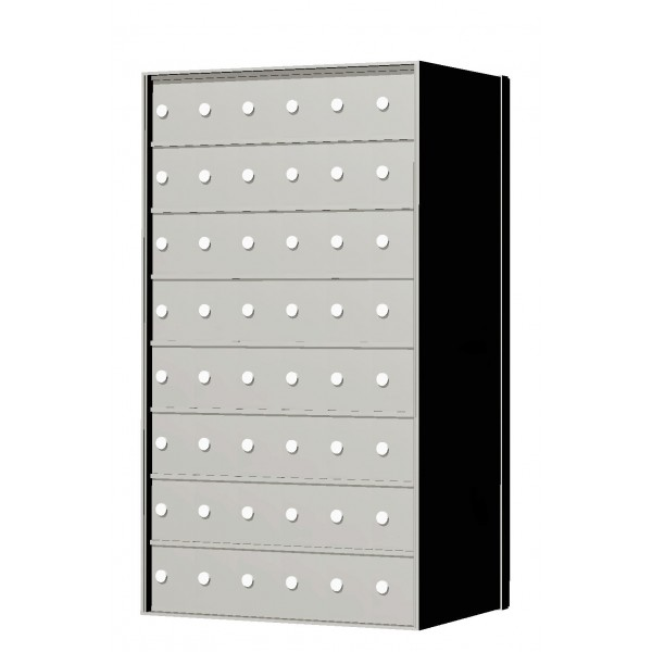 Standard 48 Door 8 High Horizontal Mailbox Unit - Rear Loading - 170086A