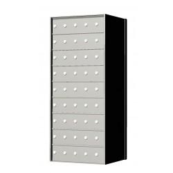 Custom 45 Door 9 High Horizontal Mailbox Unit - Rear Loading - 170095SP