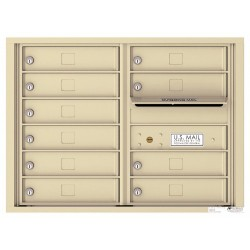 10 Tenant Doors with Outgoing Mail Compartment - 4C Wall Mount 6-High Mailboxes USPS Approved - 4C06D-10
