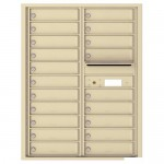 20 Tenant Doors with Outgoing Mail Compartment - 4C Wall Mount 11-High Mailboxes USPS Approved - 4C11D-20