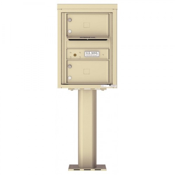 2 Over-sized Tenant Doors with Outgoing Mail Compartment (Pedestal Included) - 4C Pedestal Mount 6-High Mailboxes - 4C06S-02-P