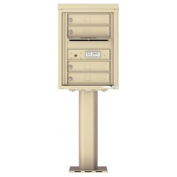 4 Tenant Doors with Outgoing Mail Compartment (Pedestal Included) - 4C Pedestal Mount 6-High Mailboxes - 4C06S-04-P