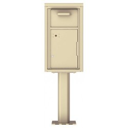Collection/Drop Box Unit - 4C Pedestal Mount 8-High (Pedestal Included) - 4C08S-HOP-P