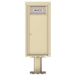 Trash / Recycling Bin (Pedestal Included) - 4C Pedestal Mount 10-High - H4C10S-BIN-P