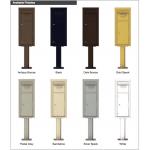 Collection/Drop Box Unit - 4C Pedestal Mount 11-High (Pedestal Included) - 4C11S-HOP-P