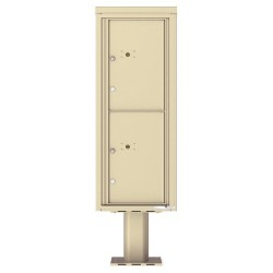 2 Parcel Doors Unit - 4C Pedestal Mount 12-High (Pedestal Included) - 4C12S-2P-P
