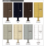 7 Over-sized Tenant Doors with 2 Parcel Doors and 1 Outgoing Mail Compartment (Pedestal Included) - 4C Pedestal Mount 14-High Mailboxes - 4C14D-07-P