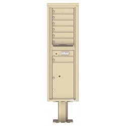 7 Tenant Doors with 1 Parcel Door and Outgoing Mail Compartment (Pedestal Included) - 4C Pedestal Mount 15-High Mailboxes - 4C15S-07-P