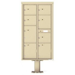 8 Parcel Doors Unit - 4C Pedestal Mount Max Height (Pedestal Included) - 4C16D-8P-P