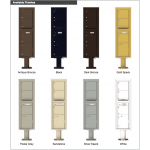 3 Over-sized Tenant Doors with 1 Parcel Door and Outgoing Mail Compartment (Pedestal Included) - 4C Pedestal Mount Max Height Mailboxes - 4C16S-03-P