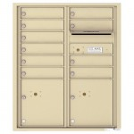 10 Tenant Doors with 2 Parcel Lockers and Outgoing Mail Compartment - 4C Wall Mount ADA Max Height Mailboxes - 4CADD-10