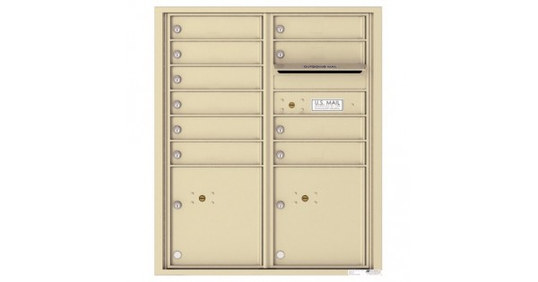 10 Tenant Doors With 2 Parcel Lockers And Outgoing Mail