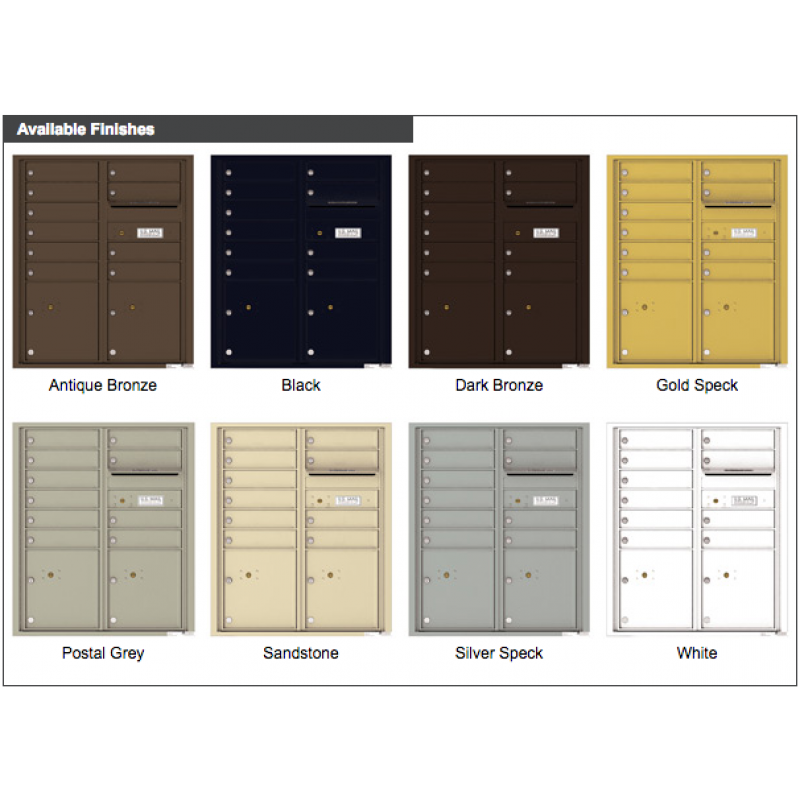 10 Tenant Doors with 2 Parcel Lockers and Outgoing Mail Compartment - 4C Wall Mount ADA Max ...  sc 1 st  George Bilhorn and Company & 10 Tenant Doors with 2 Parcel Lockers and Outgoing Mail Compartment ...