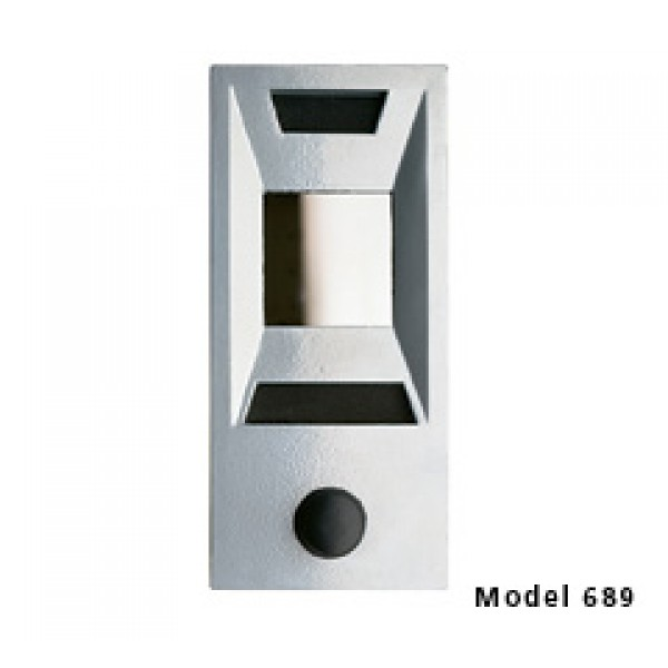 Mechanical Door Chime with Square Mirror Viewer and Name Cards (Silver) - 689105-01